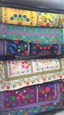 modoko suzani özbek desenli döşemelik kumaşlar