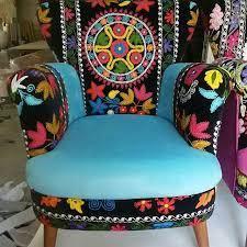 suzanı ozbek desenli berjer koltuk imalatı
