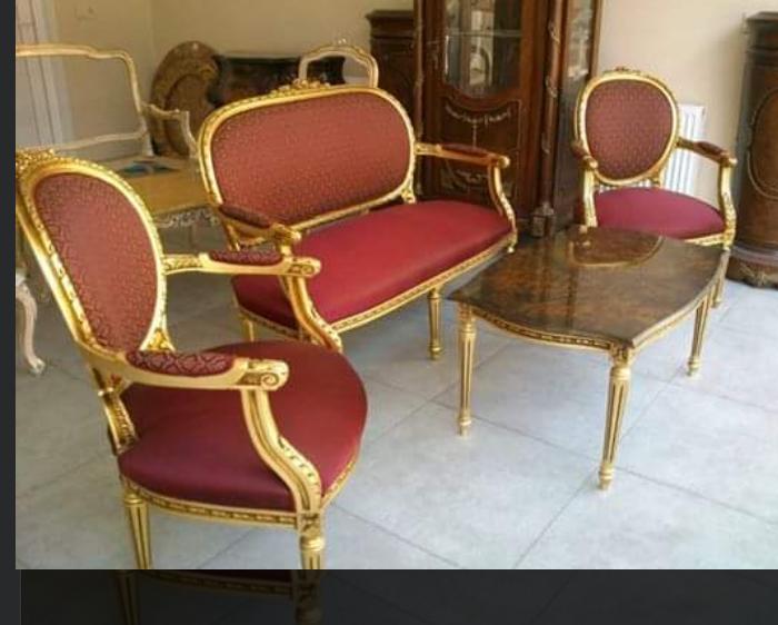 avangart çay koltuk takımı altın varaklı imalatı